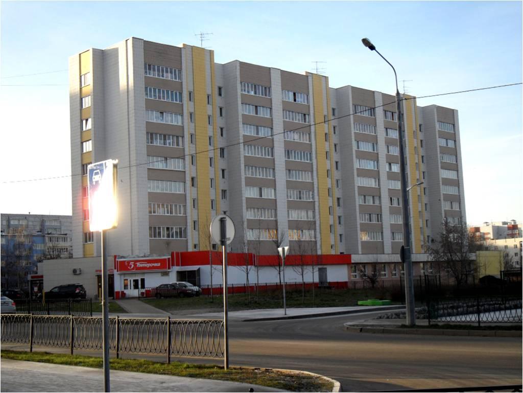 Фасад окрашен акриловой краской «Фасад Плюс»  на ул. Сыртлановой, 8