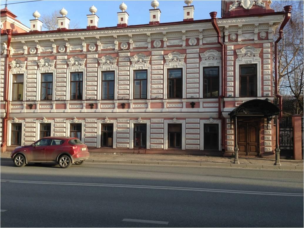 Фасад окрашен акриловой краской «Декор фасад»  на ул. Московская, 37