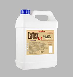 latex_L1 мебельный лак на водной основе для внутренних работ