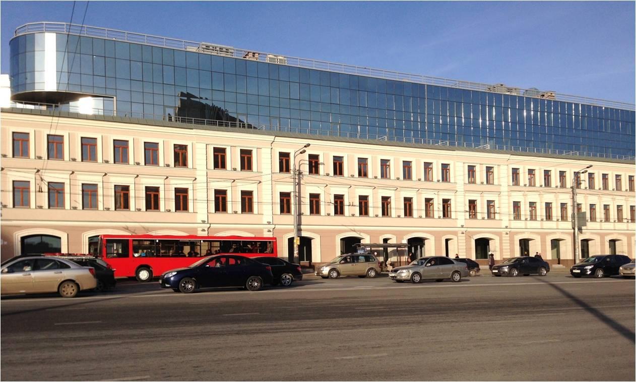Фасад окрашен акриловой краской «Фасад Плюс»  на ул. Татарстан, 14